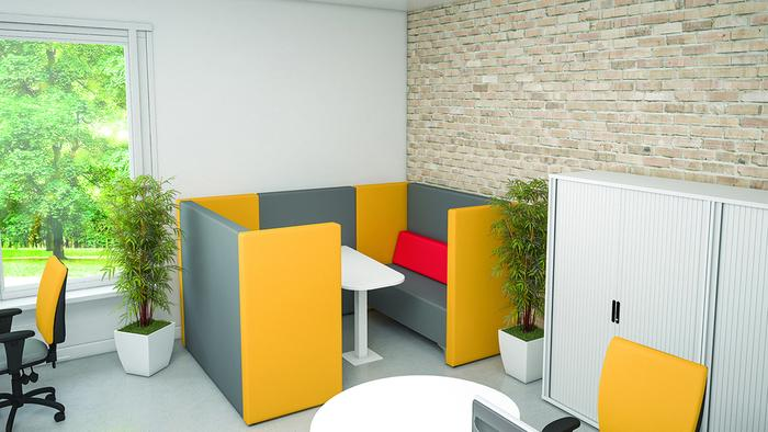 Pure Conference Desk with Seating Pod