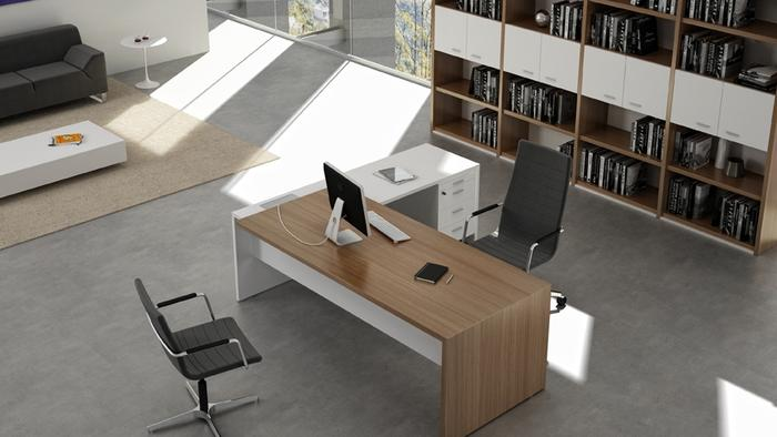 T45 White - Canaletto Walnut