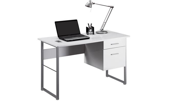 Bianca White Modern Desk