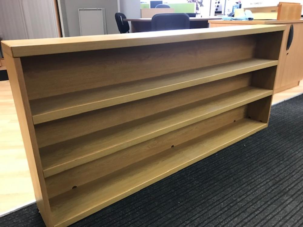 Light Oak Bookcase with Fixed Shelves