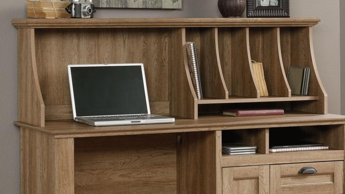 Hutch for scribed oak storage desk 4 315493024
