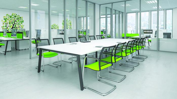 I Bench Boardroom Table