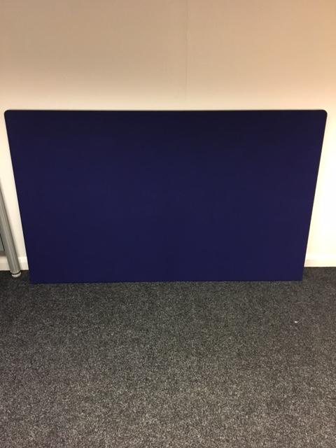 Blue fabric free standing screen 1800 x 1100mm sos for Free standing screen