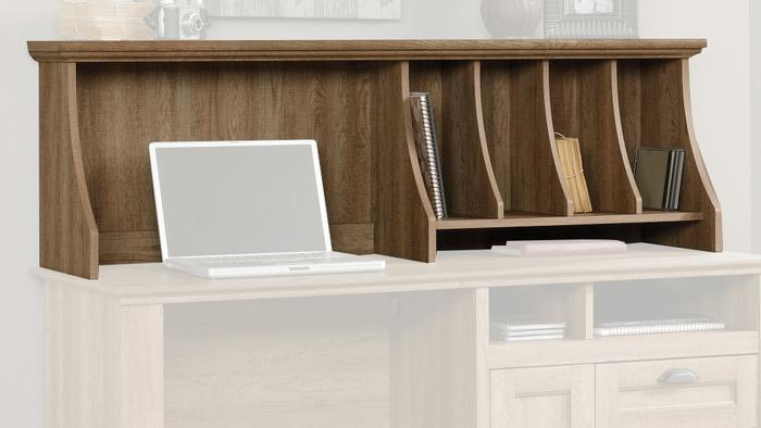 Hutch for scribed oak storage desk 3 2966169271
