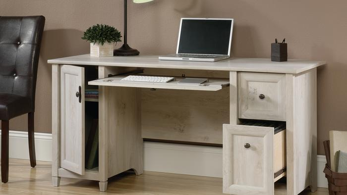 Chalked wood computer desk 3 2103694879