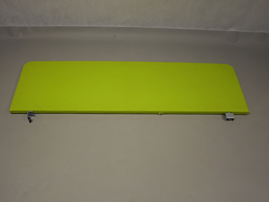 Desk Mounted Screen In Lime Green