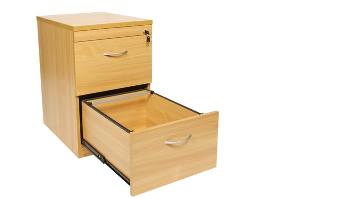 OI Endurance 2 Drawer Filing Cabinet Beech