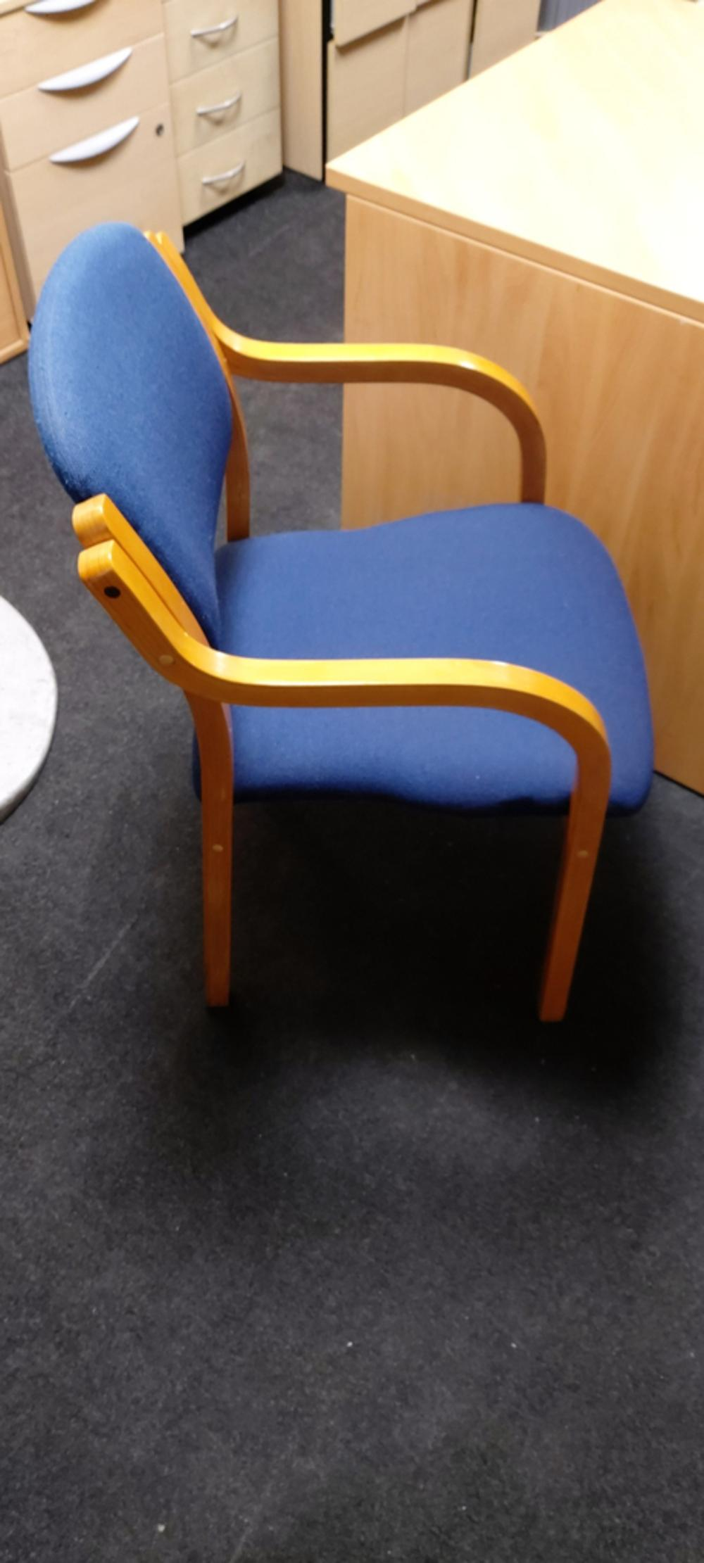 Blue Fabric Stacking Chairs